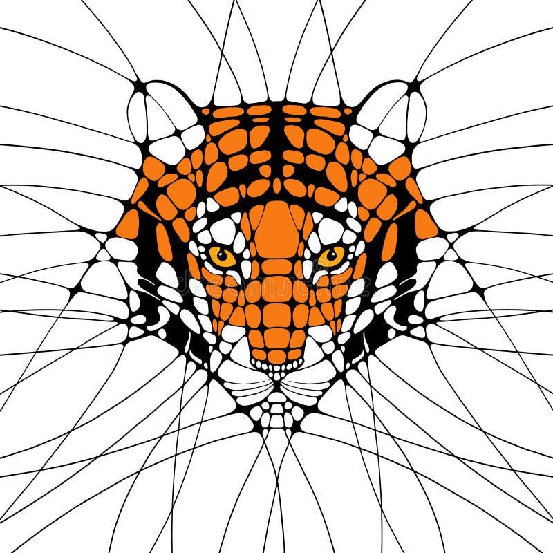 Grafische abstracte Illustratie van een tijger vector illustratie