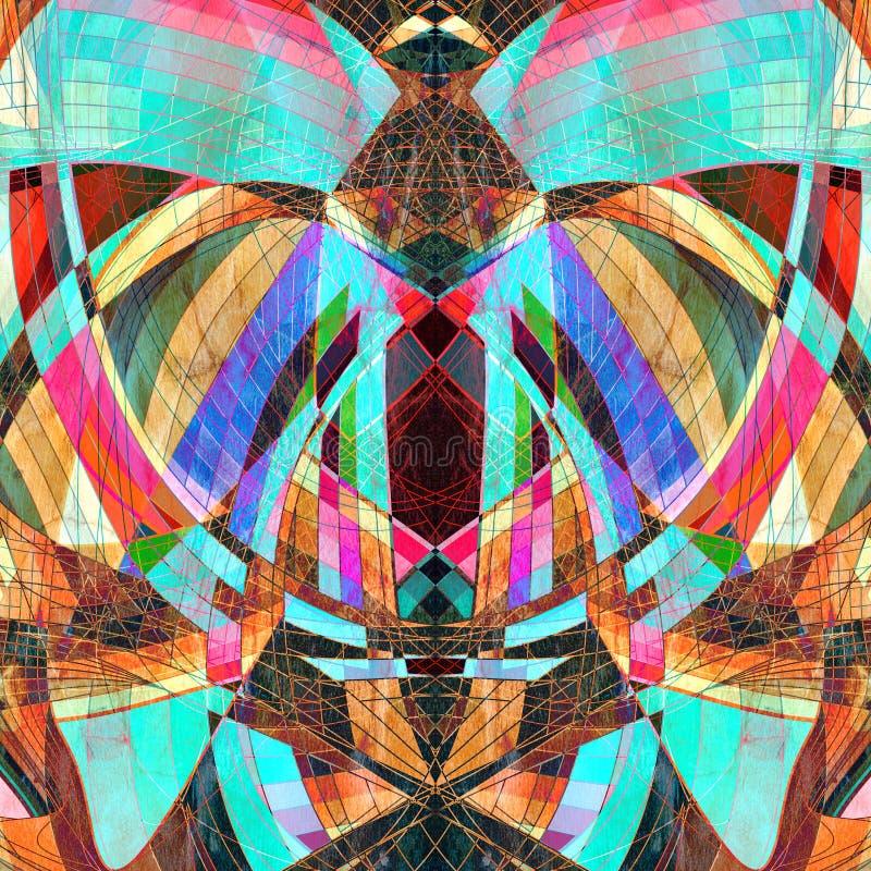 Grafische abstracte lichte golven vector illustratie