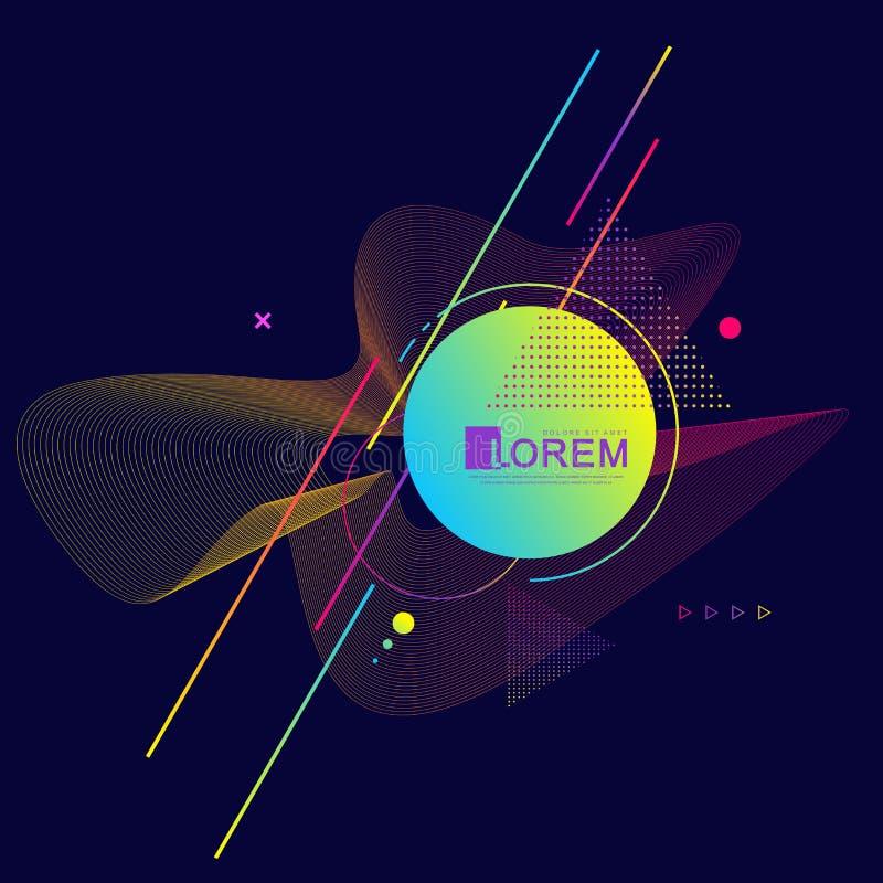 Grafische achtergrond met geometrische elementen Modern kleurrijk geometrisch patroon Vector illustratie vector illustratie