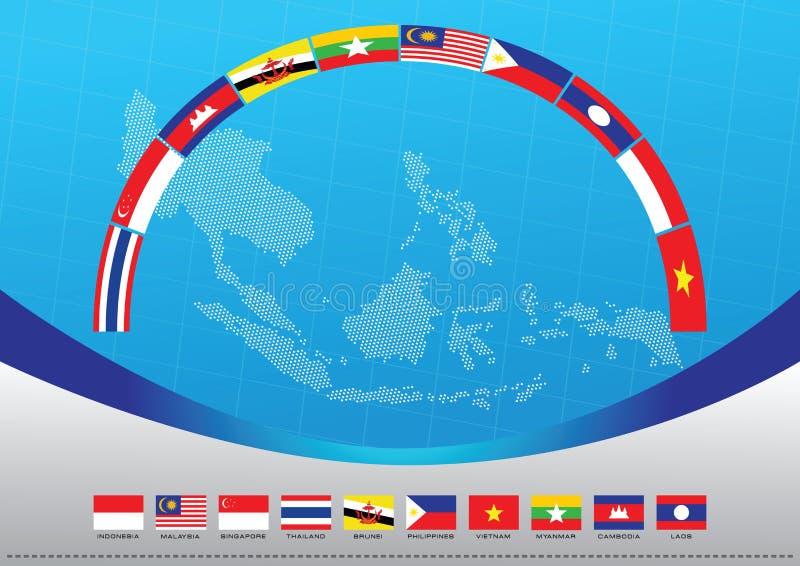Grafische Aec of ASEAN of informatie stock illustratie