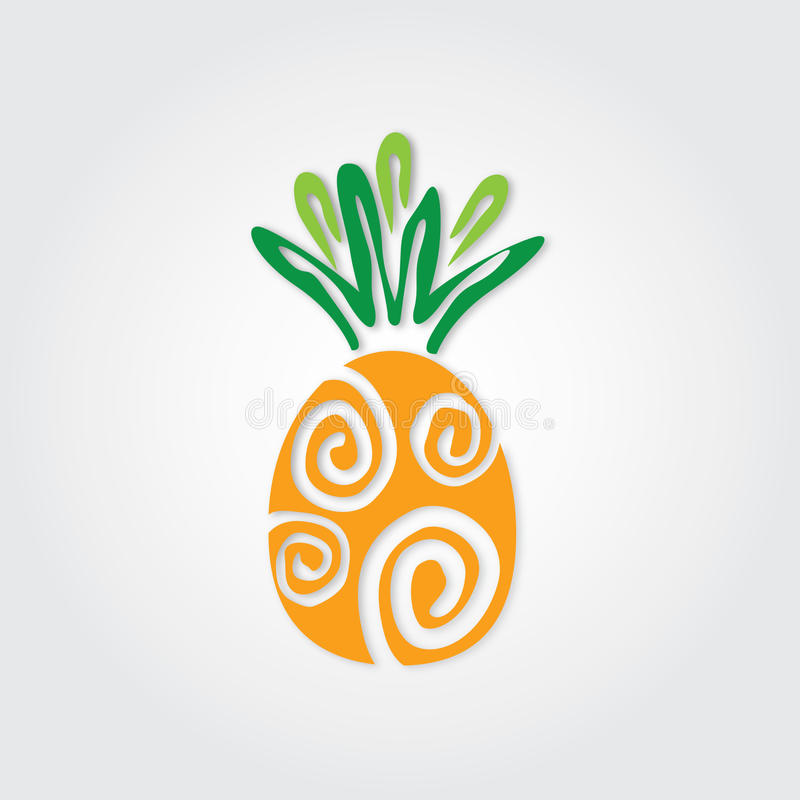 Grafische ananas stock illustratie