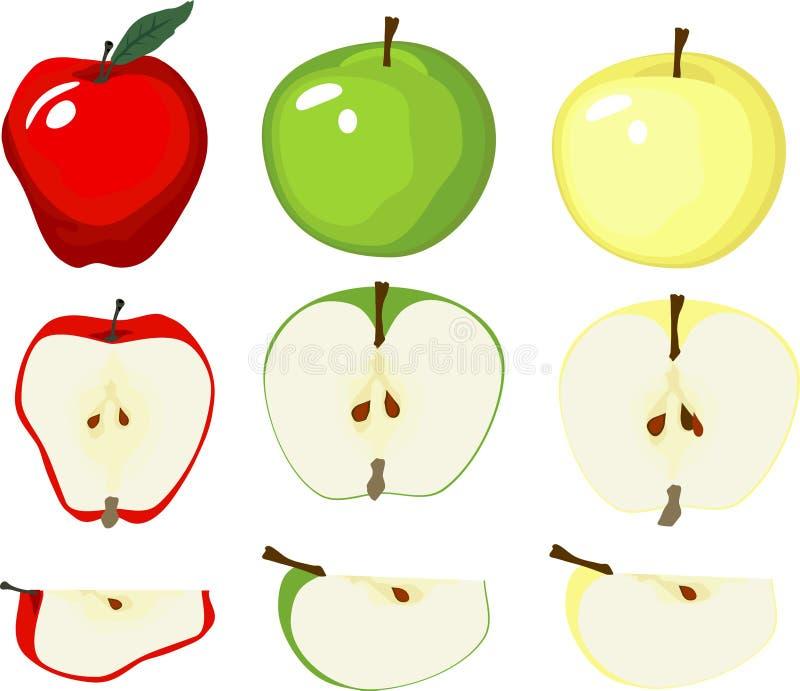 Grafische Apple-Vielzahl stock abbildung