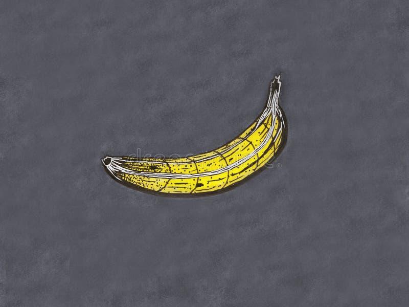 Grafische Banane auf einem grauen Hintergrund lizenzfreies stockbild