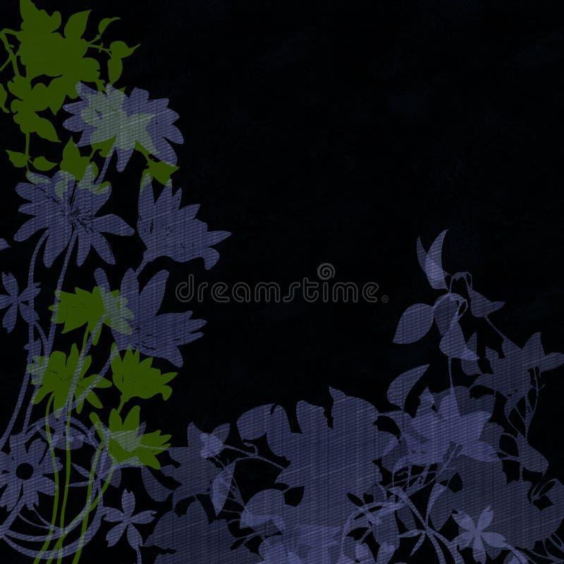 Grafische bloemen in silhouet vector illustratie