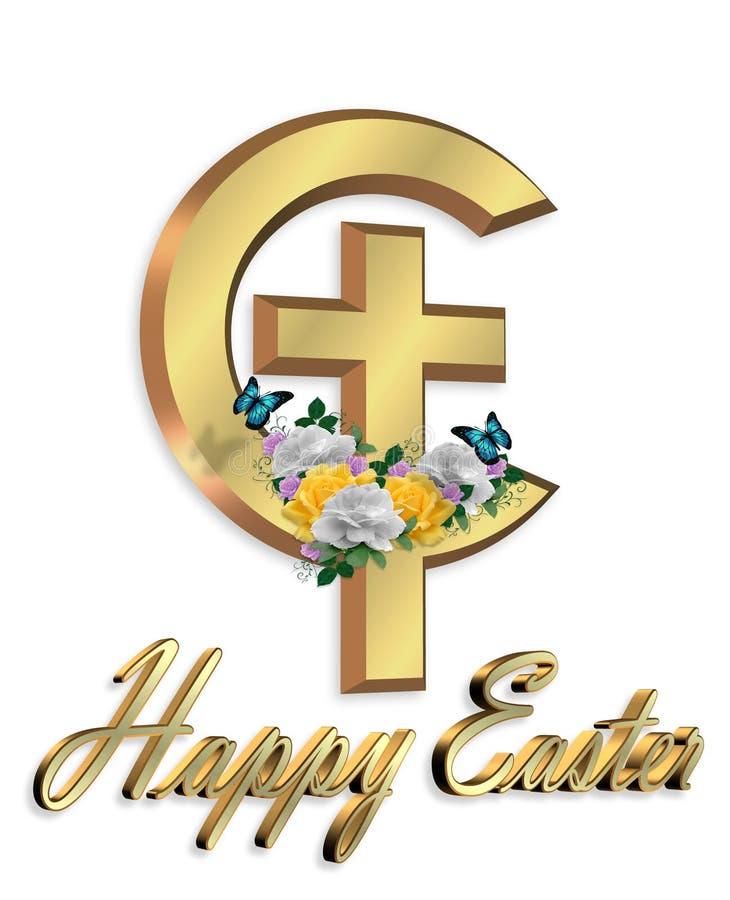 Grafische Christelijke dwars 3D van Pasen