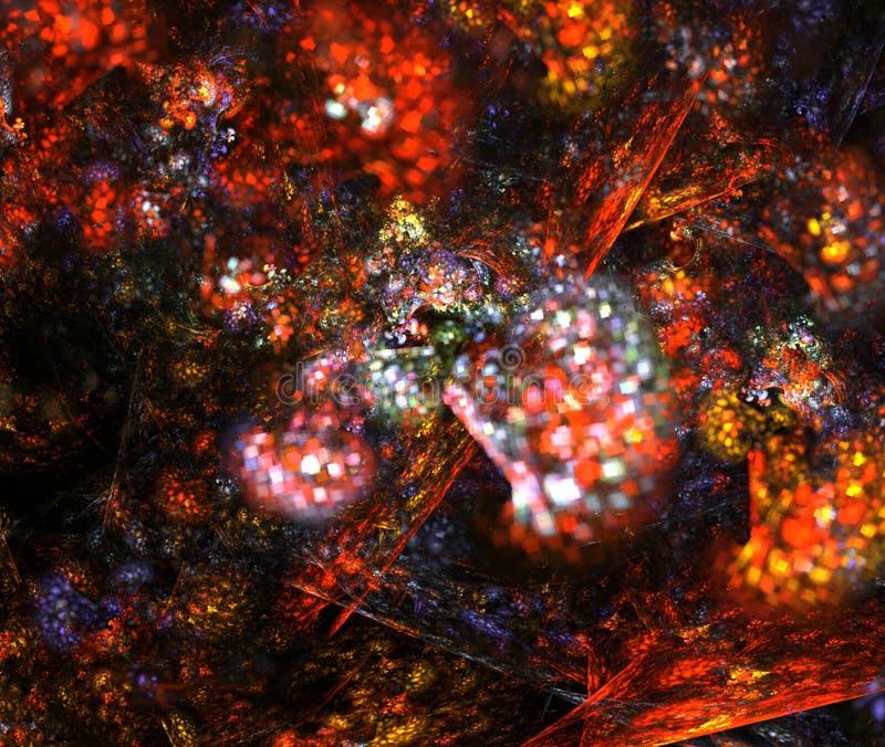 Grafische computer Digitaal art Fractal grafische abstracte kleurrijke achtergrond royalty-vrije illustratie