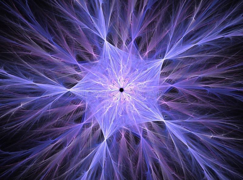 Grafische computer Digitaal art Fractal de grafische abstracte kleurrijke achtergrond van het kristalpentagoon royalty-vrije illustratie