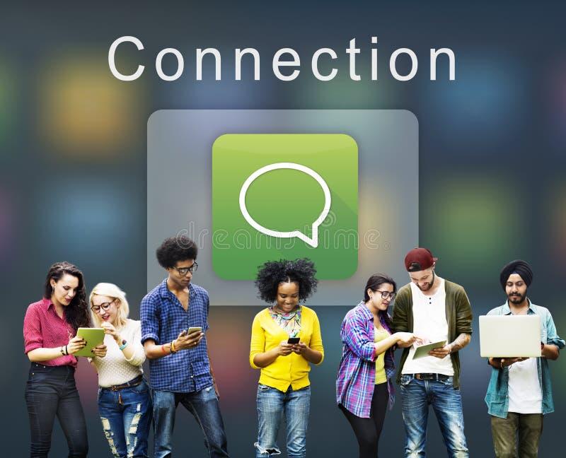 Grafische Concept van Internet van de toepassingsverbinding het Digitale stock fotografie