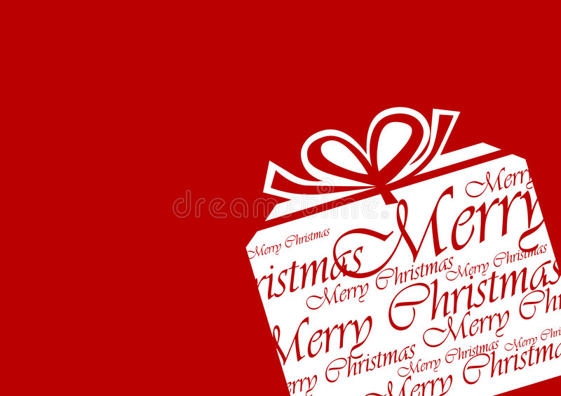 Grafische de Gift van Kerstmis royalty-vrije stock afbeelding