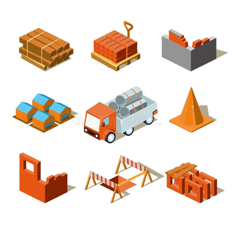 Grafische de Informatie van het bouwproject, Gedetailleerd vector illustratie