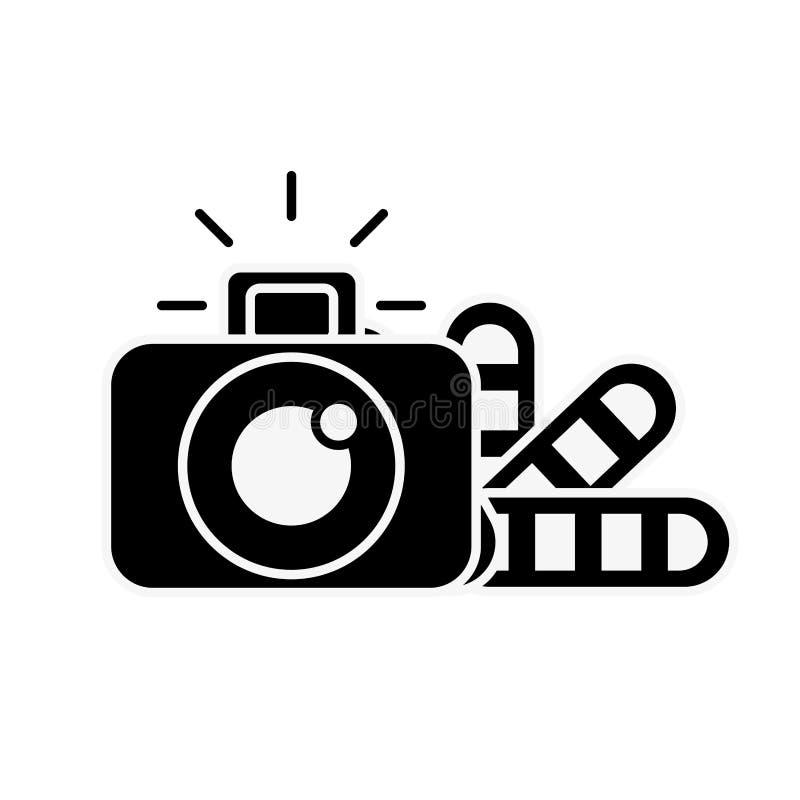 Grafische de kleurentoon van de ontwerp fotografische camera royalty-vrije illustratie