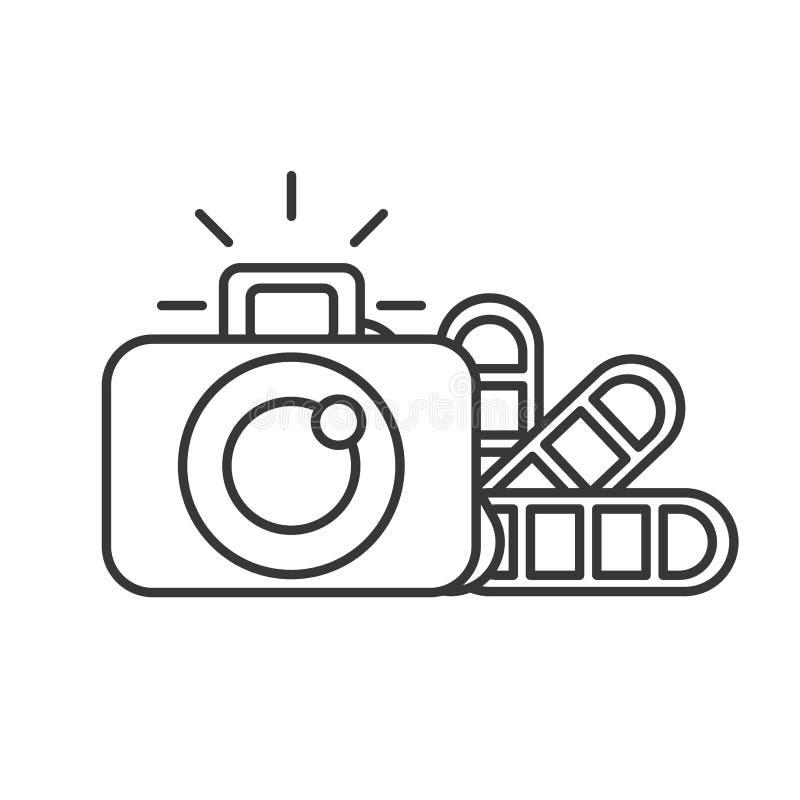 Grafische de kleurentoon van de ontwerp fotografische camera stock illustratie