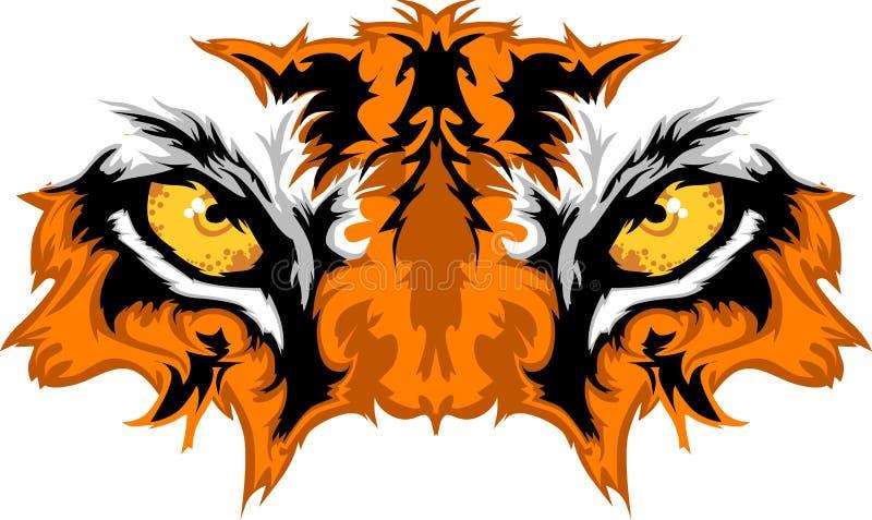 Grafische de Mascotte van de Ogen van de tijger royalty-vrije illustratie