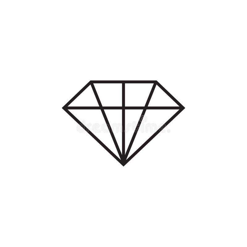 Grafische de ontwerpsjabloon vectorillustratie van het diamantpictogram stock illustratie