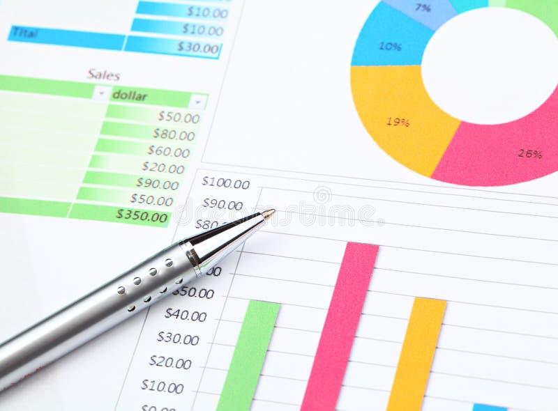 Grafische diagramanalyse royalty-vrije stock afbeeldingen