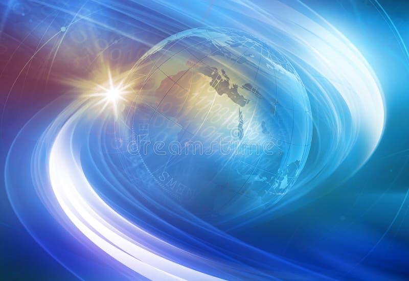 Grafische digitale Welthintergrund Konzept-Reihe lizenzfreie abbildung