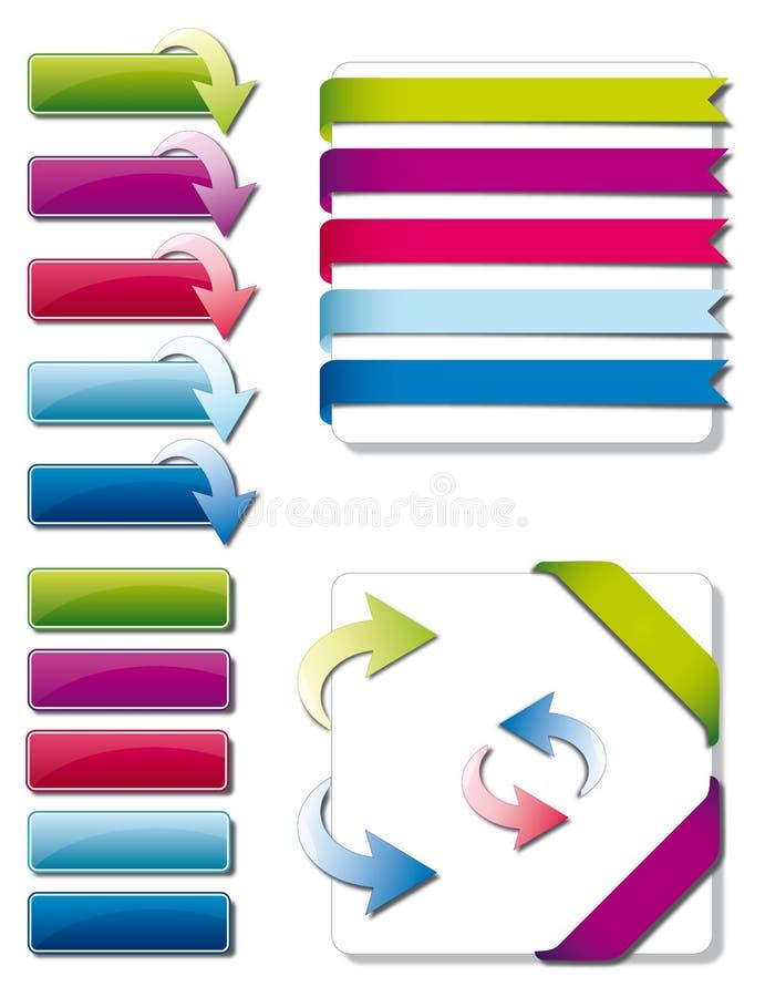 Grafische Elemente für Web-Entwerfer stock abbildung