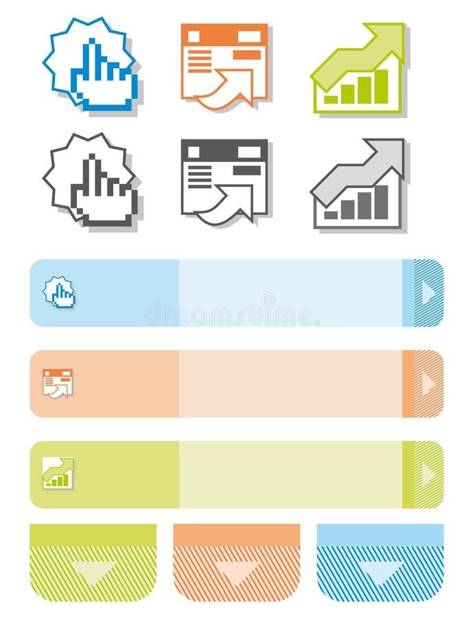 Grafische Elemente für Web-Entwerfer vektor abbildung