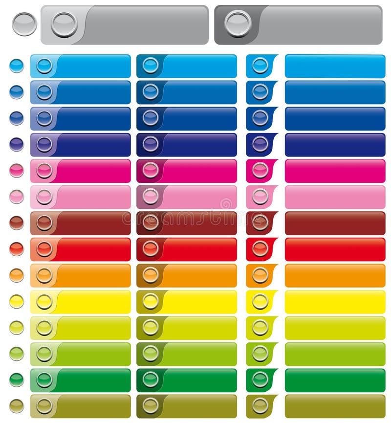 Grafische Elemente für Web-Entwerfer lizenzfreie abbildung