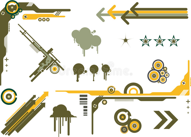 Grafische Elementen Camo royalty-vrije illustratie