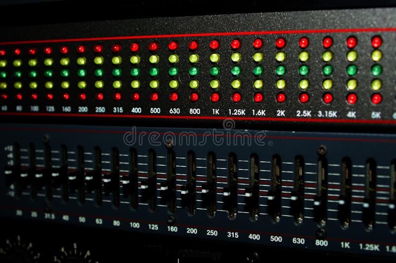 Grafische Equaliser Stock Fotografie