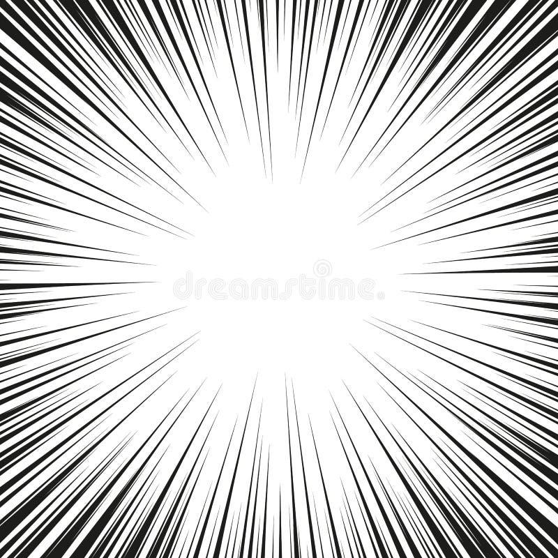 Grafische Explosion mit Geschwindigkeits-Linien Comic-Buch-Gestaltungselement Auch im corel abgehobenen Betrag lizenzfreies stockfoto