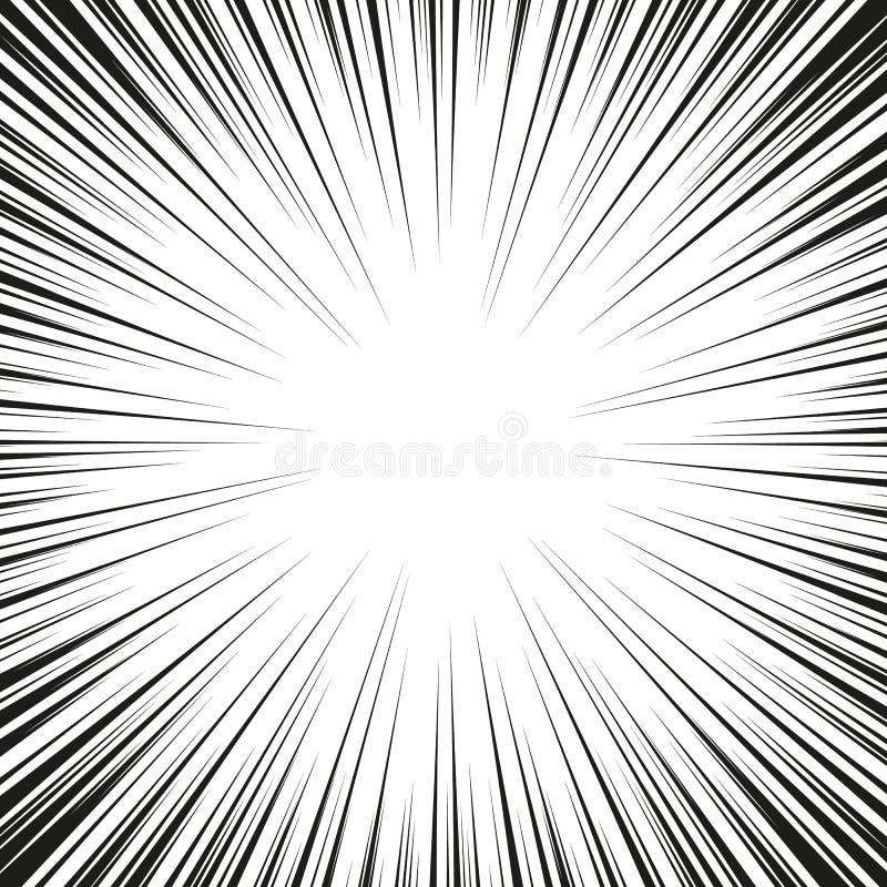 Grafische Explosion mit Geschwindigkeits-Linien Comic-Buch-Gestaltungselement Auch im corel abgehobenen Betrag stockfoto