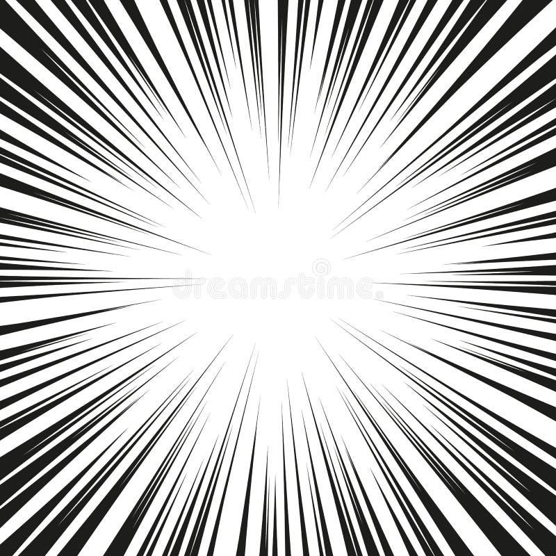 Grafische Explosion mit Geschwindigkeits-Linien Comic-Buch-Gestaltungselement Auch im corel abgehobenen Betrag lizenzfreie stockbilder