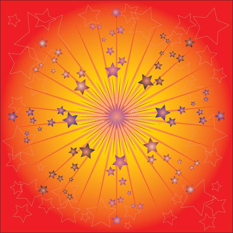 Grafische Feier der Sterne vektor abbildung
