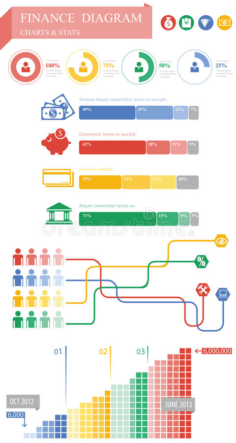 Grafische financiën stock illustratie
