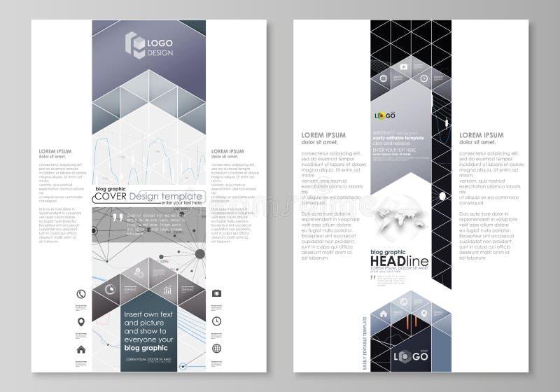 Grafische Geschäftsschablonen des Blogs Seitenwebsite-Designschablone, Vektorplan vektor abbildung