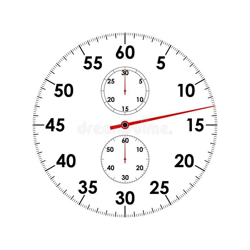 Grafische het pictogramclose-up van de chronometerwijzerplaat royalty-vrije illustratie