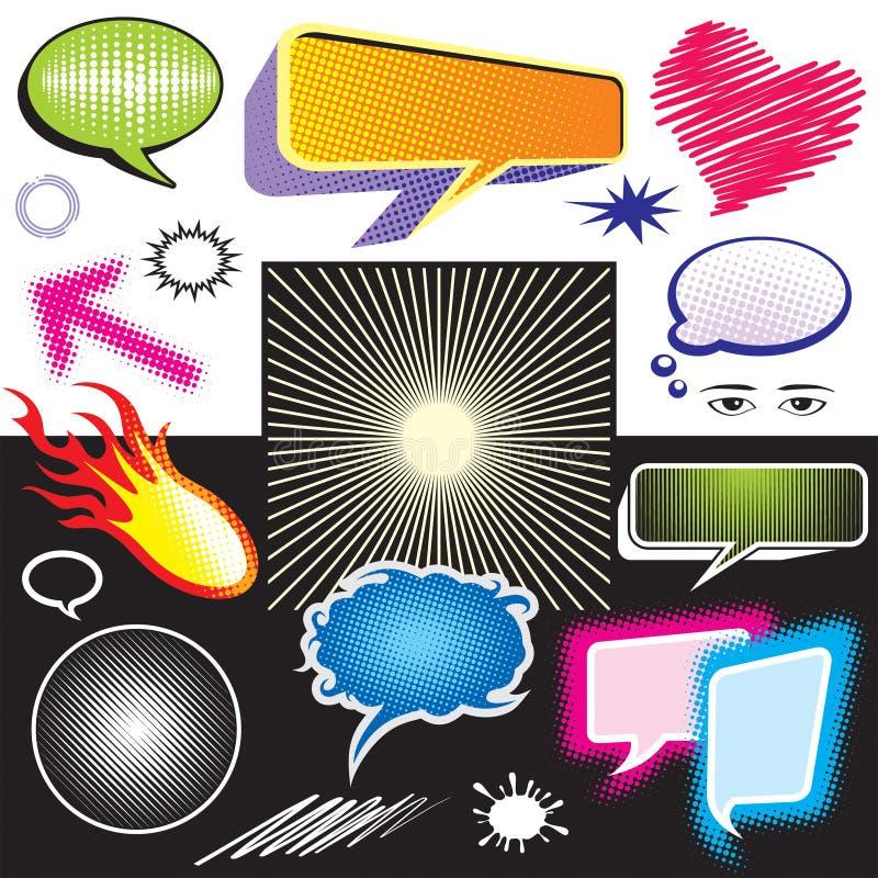 Grafische het symbool van de dialoog vector illustratie