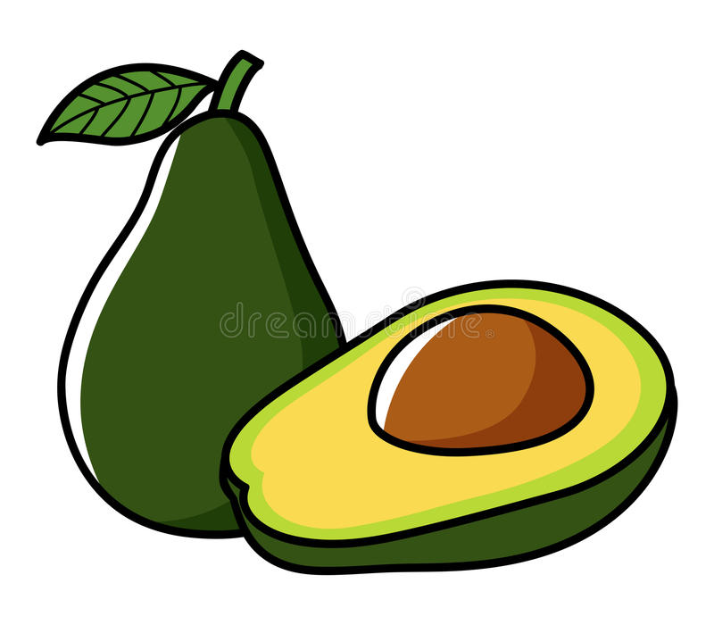 Grafische illustratie van avocado vector illustratie
