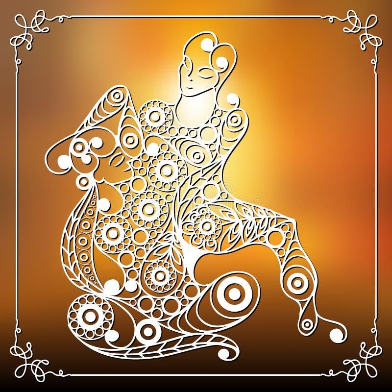 Grafische illustratie van met Thaise massage 4 royalty-vrije illustratie