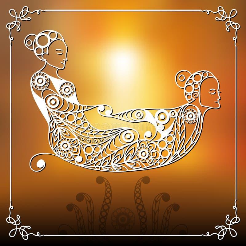 Grafische illustratie van met Thaise massage 8 royalty-vrije illustratie