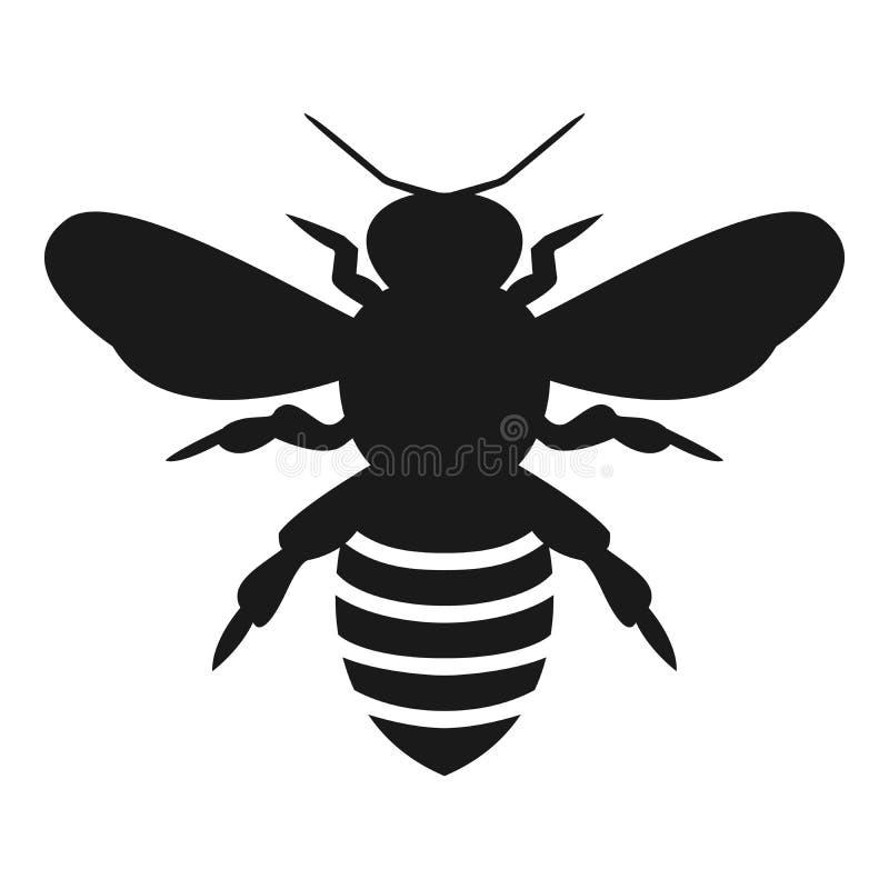 Grafische illustratie van silhouethoningbij Geïsoleerd op vectortekening als achtergrond voor honingsproducten, royalty-vrije illustratie