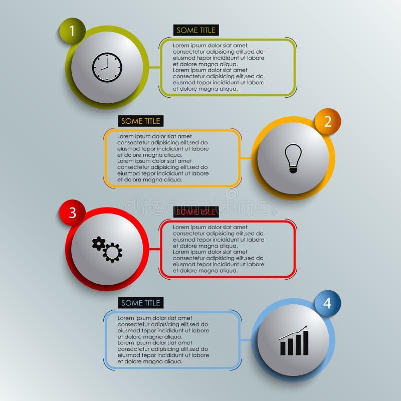 Grafische informatie gekleurd om het malplaatje van het elementenwerk royalty-vrije illustratie