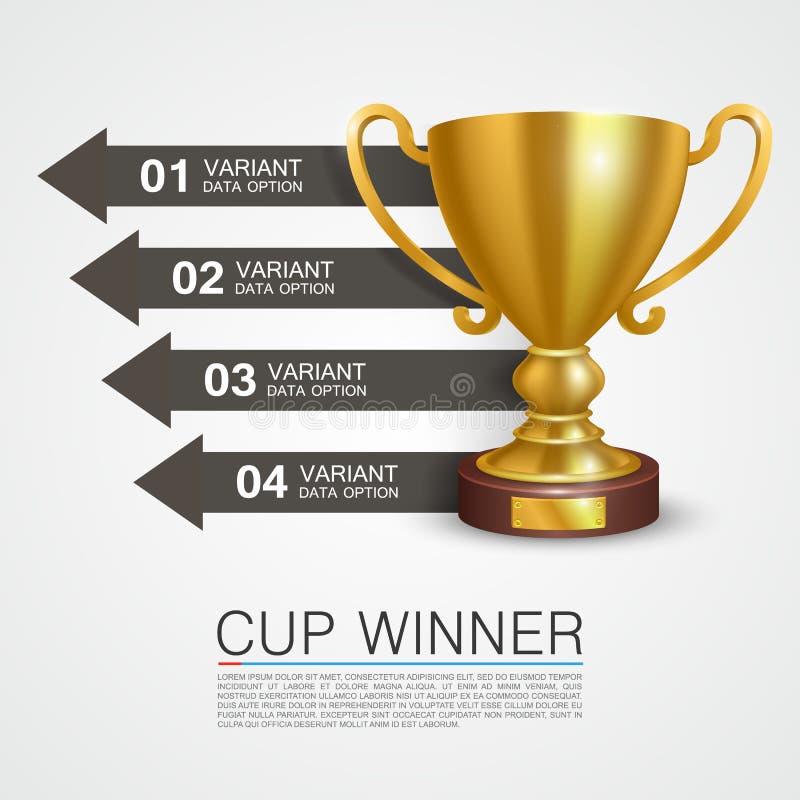 Grafische Informationen Sieger-Cupkunst stock abbildung