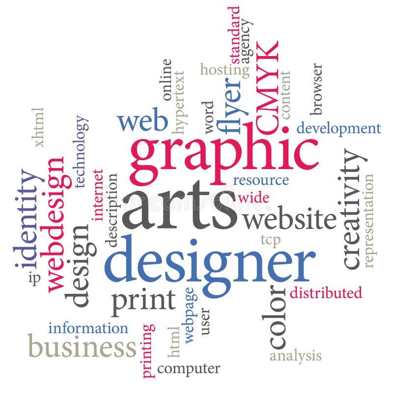 Grafische kunstenontwerper stock illustratie