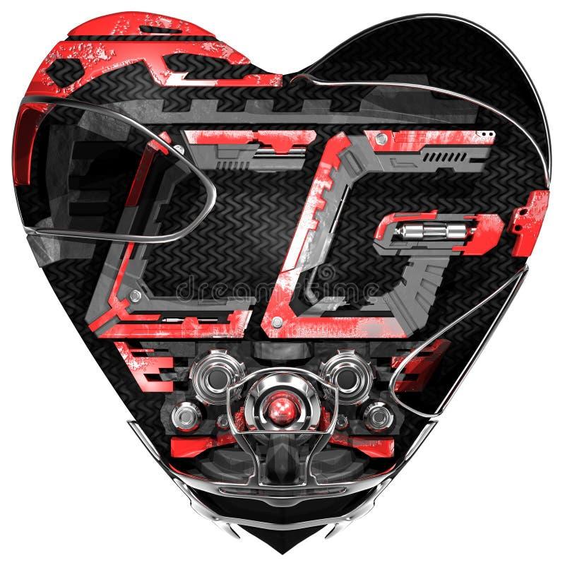 Grafische liefde CG royalty-vrije stock foto