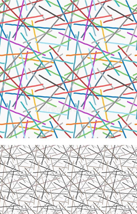 Grafische Linien und Farbnahtloses Muster vektor abbildung