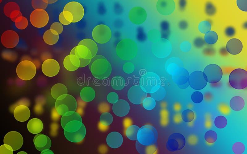 Grafische Luftblase mit Kunsthintergrund stock abbildung