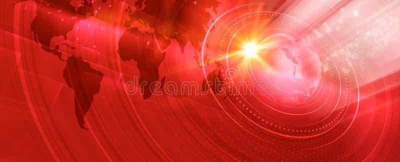 Grafische moderne digitale Weltfahnenkonzept-Reihe vektor abbildung