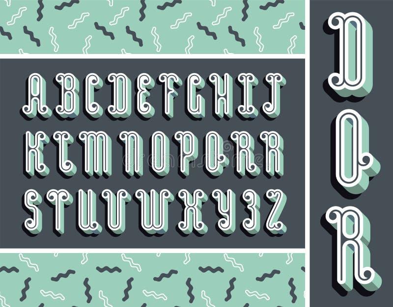 Grafische muntdoopvont met 3d effect schaduw Vector modern ontwerp stock illustratie