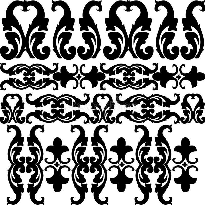 Download Grafische Musteransammlung vektor abbildung. Illustration von künstlerisch - 9090617