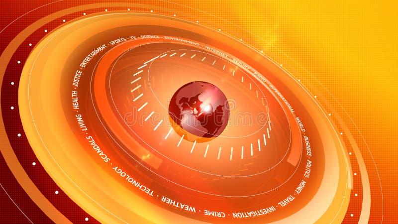 Grafische Nachrichten-Rot-orange Digital-Hintergrund lizenzfreie abbildung
