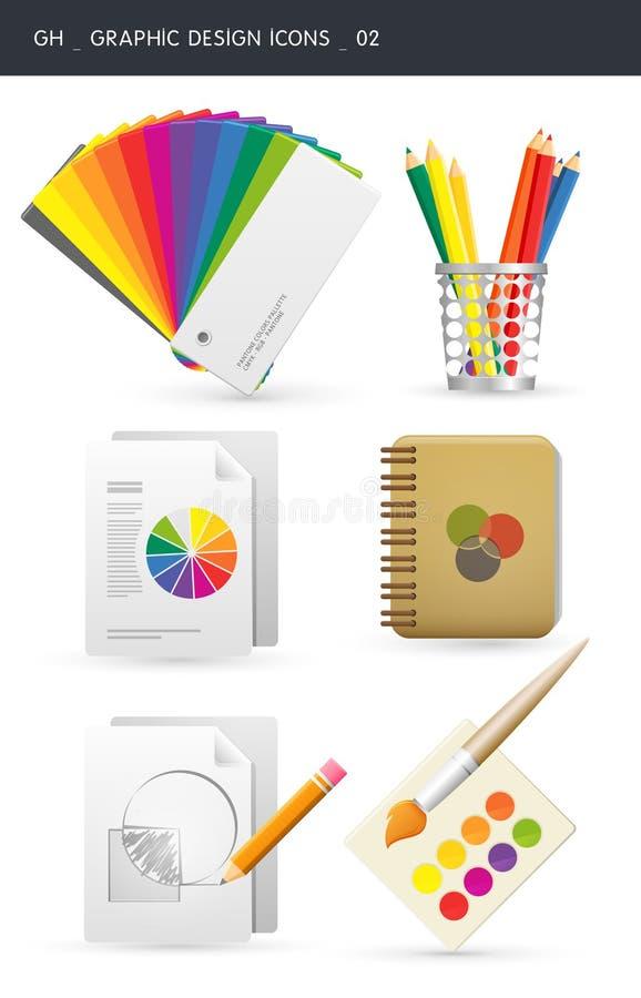 Grafische ontwerppictogrammen _02 stock illustratie