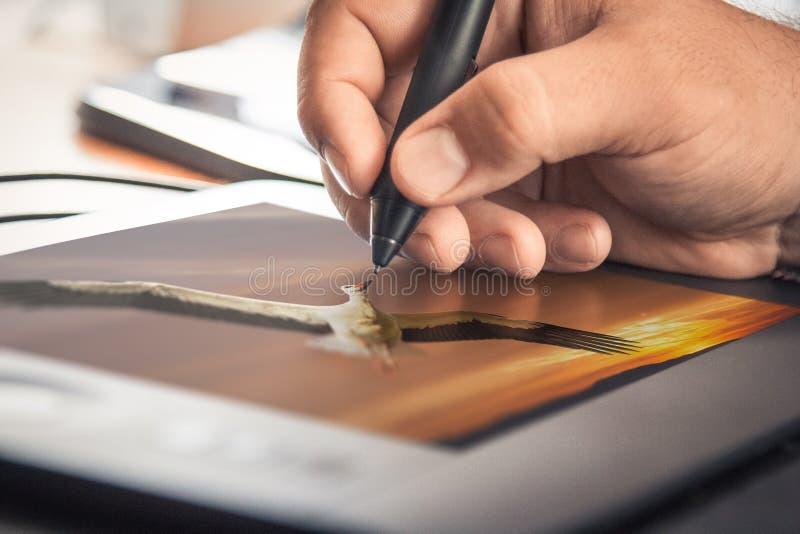 Grafische ontwerptablet stock fotografie