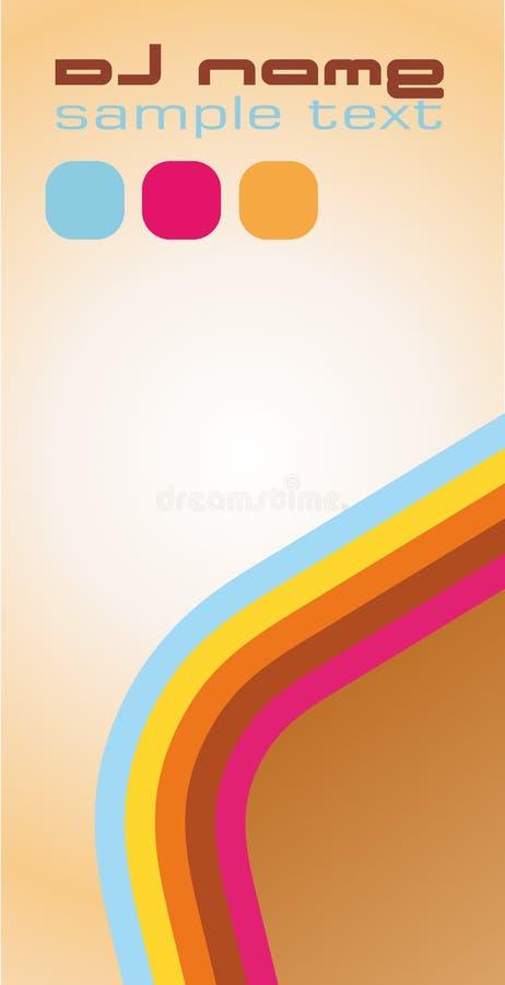 Grafische oranje lijnen royalty-vrije illustratie